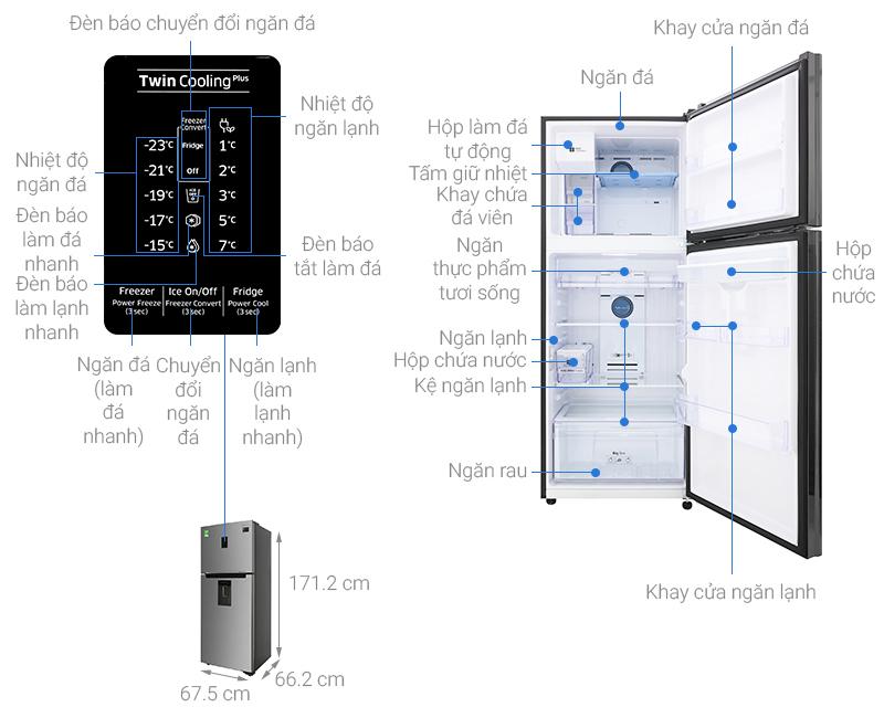 Thông số kỹ thuật Tủ lạnh Samsung Inverter 360 lít RT35K5982S8/SV