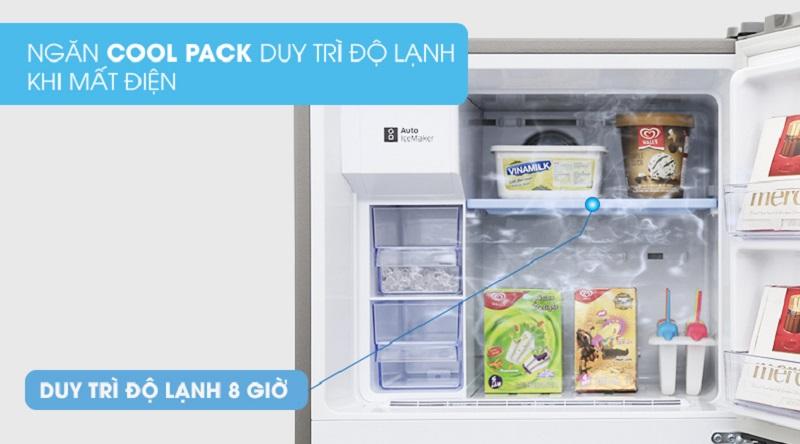 Không còn lo ngại về vấn đề mất điện với ngăn giữ nhiệt Cool Pack - Tủ lạnh Samsung Inverter 360 lít RT35K5982S8/SV