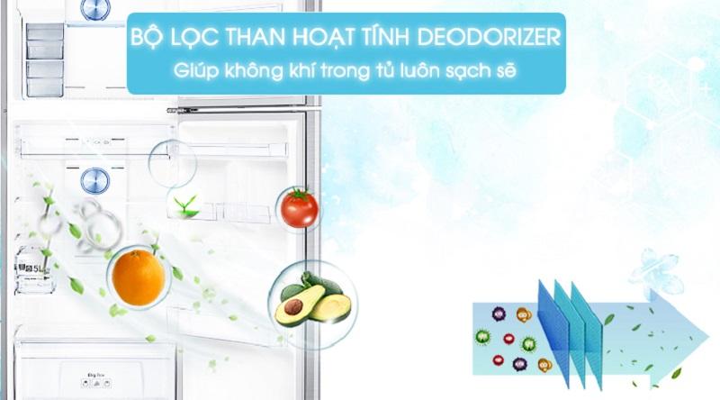 Bảo vệ sức khỏe của bạn với bộ lọc than hoạt tính Deodorizer - Tủ lạnh Samsung Inverter 360 lít RT35K5982S8/SV