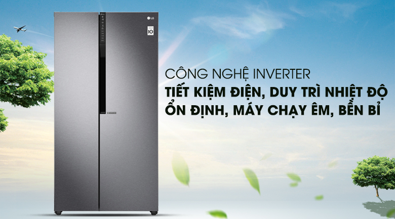 Công nghệ Inverter vận hành êm ái, tiết kiệm điện năng hiệu quả - Tủ lạnh LG Inverter 613 lít GR-B247JDS
