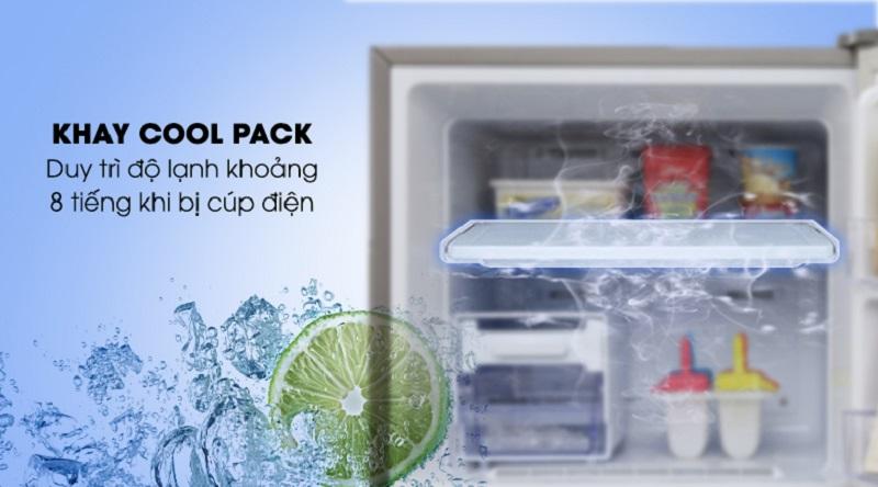Duy trì độ lạnh với khay lạnh Cool Pack - Tủ lạnh Samsung Inverter 319 lít RT32K5932S8/SV