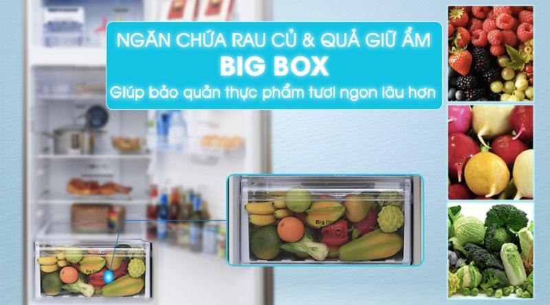 Ngăn giữ ẩm giúp bảo quản rau củ lâu hơn - Tủ lạnh Samsung Inverter 319 lít RT32K5932S8/SV