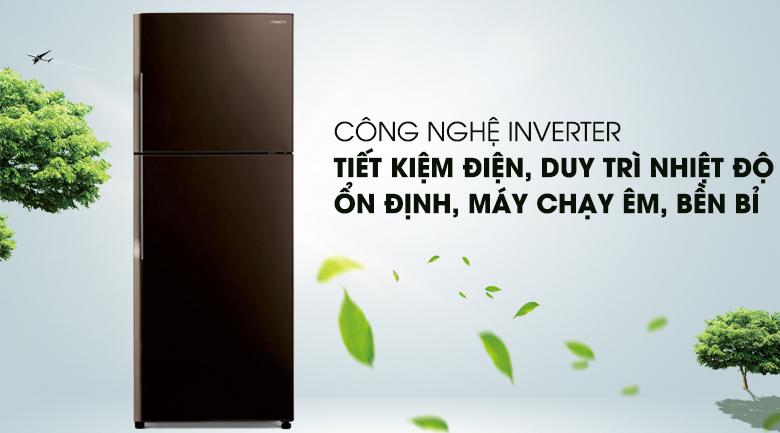 Công nghệ Inverter vận hành êm ái, ổn định - Tủ lạnh Hitachi Inverter 365 lít R-VG440PGV3 GBW