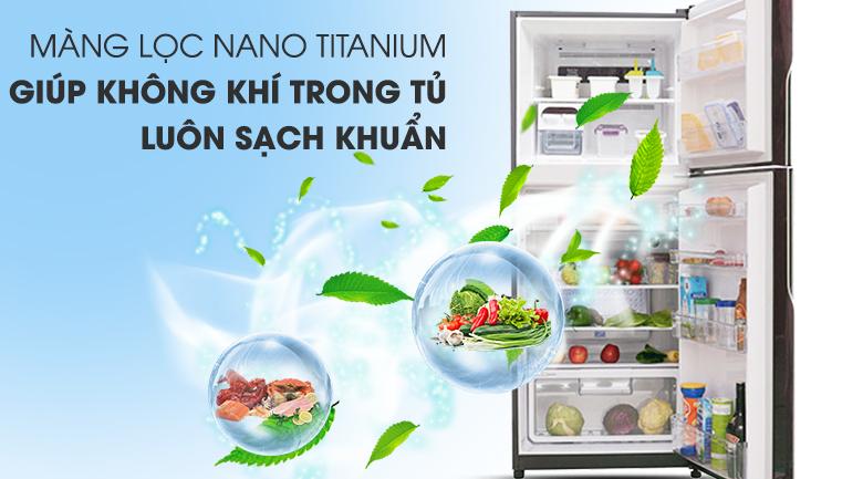 Khử mùi hiệu quả với màng lọc Nano Titanium - Tủ lạnh Hitachi Inverter 365 lít R-VG440PGV3 GBW