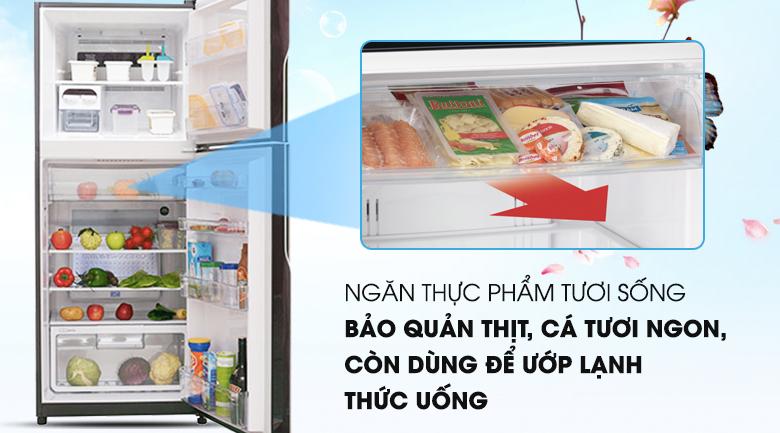 Ngăn chứa chuyên cho thực phẩm tươi sống - Tủ lạnh Hitachi Inverter 365 lít R-VG440PGV3 GBW