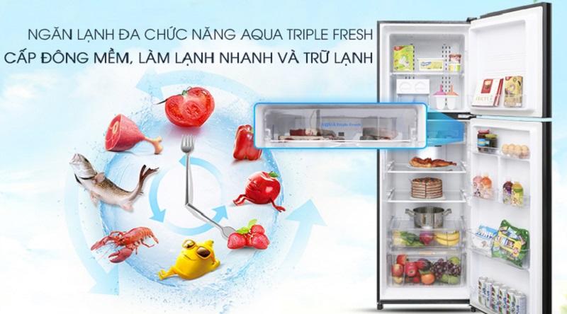 Ngăn đa chức năng AQUA Triple Fresh - Tủ lạnh Aqua Inverter 373 lít AQR-IG377DN GB