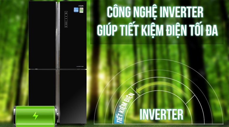 Công nghệ inverter - Tủ lạnh Aqua Inverter 516 lít AQR-IG525AM GB