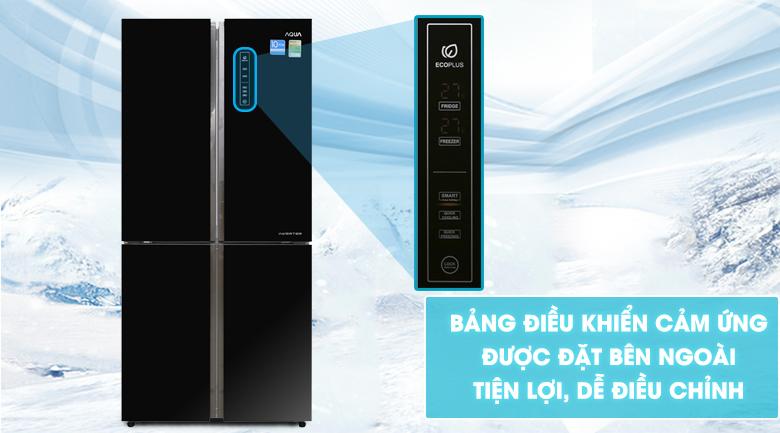 Bảng điều khiển cảm ứng - Tủ lạnh Aqua Inverter 516 lít AQR-IG525AM GB