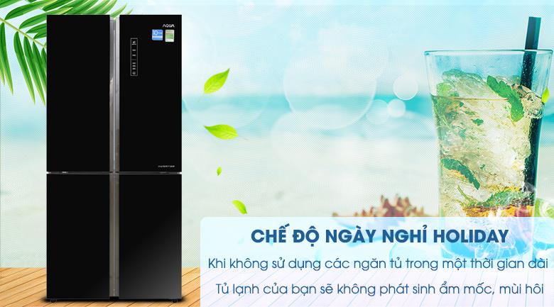 Chức năng Holiday - Tủ lạnh Aqua Inverter 516 lít AQR-IG525AM GB