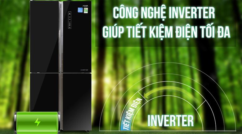 Công nghệ Inverter - Tủ lạnh Aqua Inverter 456 lít AQR-IG525AM