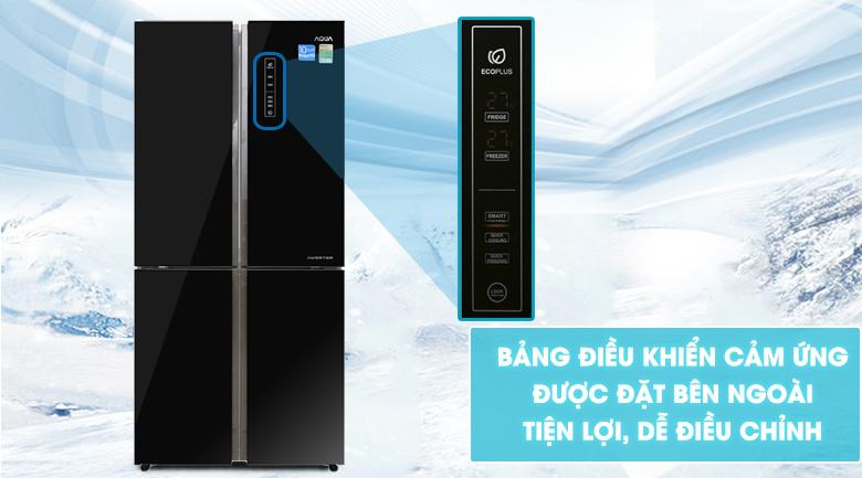 Bảng điều khiển cảm ứng - Tủ lạnh Aqua Inverter 456 lít AQR-IG525AM