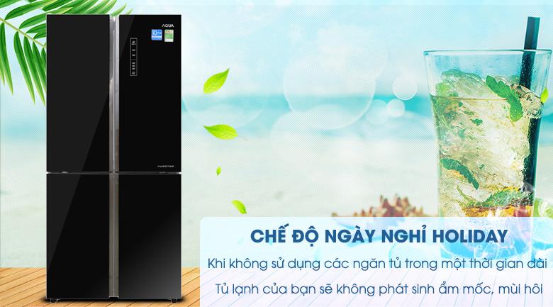 Chức năng Holiday - Tủ lạnh Aqua Inverter 456 lít AQR-IG525AM