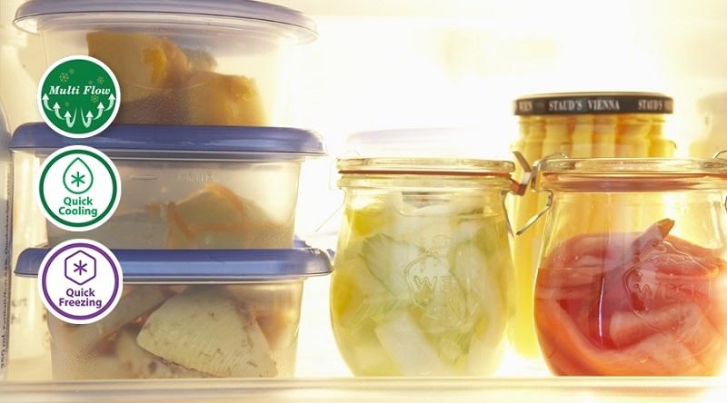Thực phẩm luôn trọn vẹn tươi ngon với luồng khí lạnh đa chiều