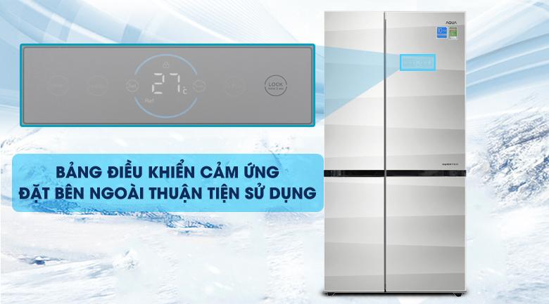 Bản điều khiển cảm ứng - Tủ lạnh Aqua Inverter 565 lít AQR-IG585AS GS