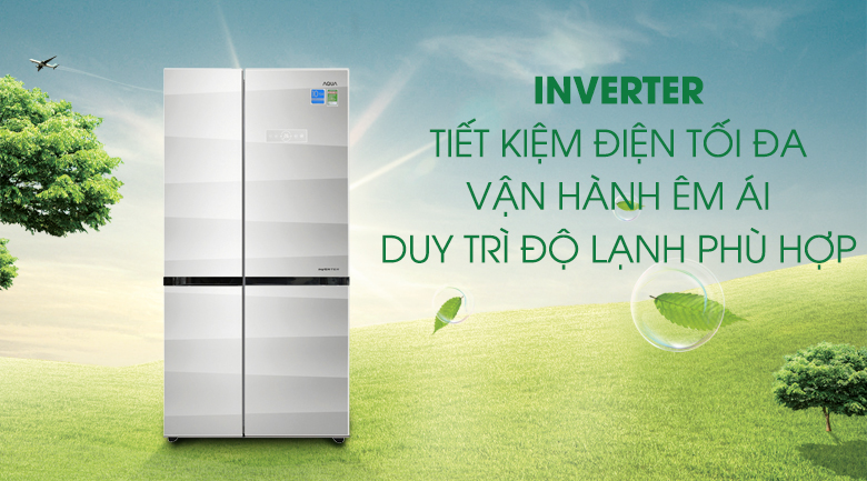 Công nghệ Inverter - Tủ lạnh Aqua Inverter 565 lít AQR-IG585AS GS