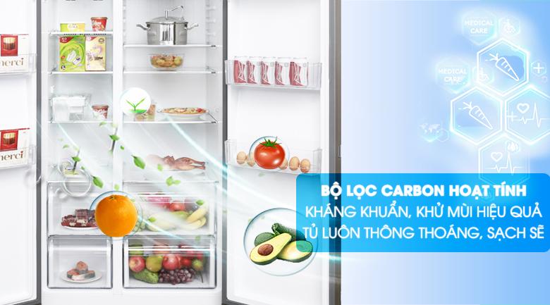 Bộ lọc Carbon - Tủ lạnh Aqua Inverter 565 lít AQR-IG585AS GS