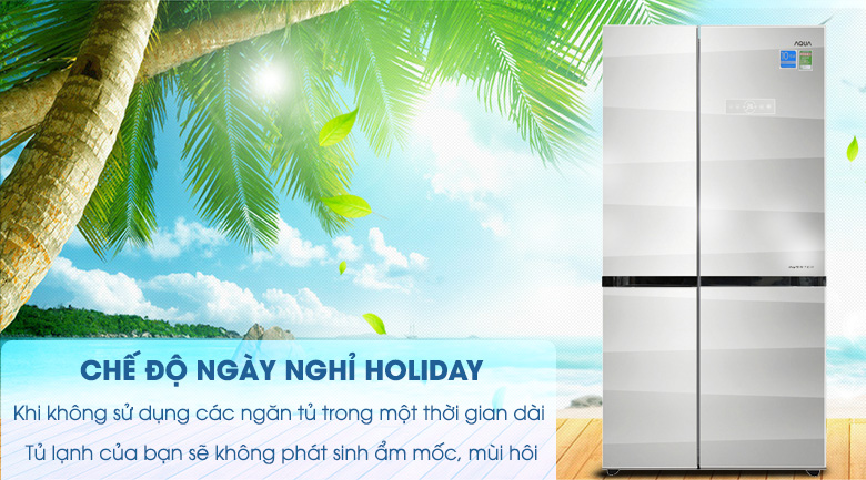 Chế độ Holiday - Tủ lạnh Aqua Inverter 565 lít AQR-IG585AS GS