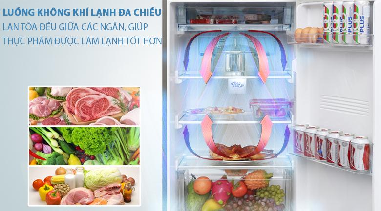 Luồng khí lạnh đa chiều - Tủ lạnh Aqua Inverter 281 lít AQR-I287BN PS