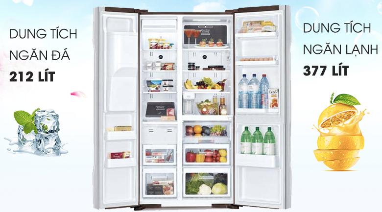 Dung tích 589 lít - Tủ lạnh Hitachi Inverter 589 lít R-S700GPGV2 (GBK)