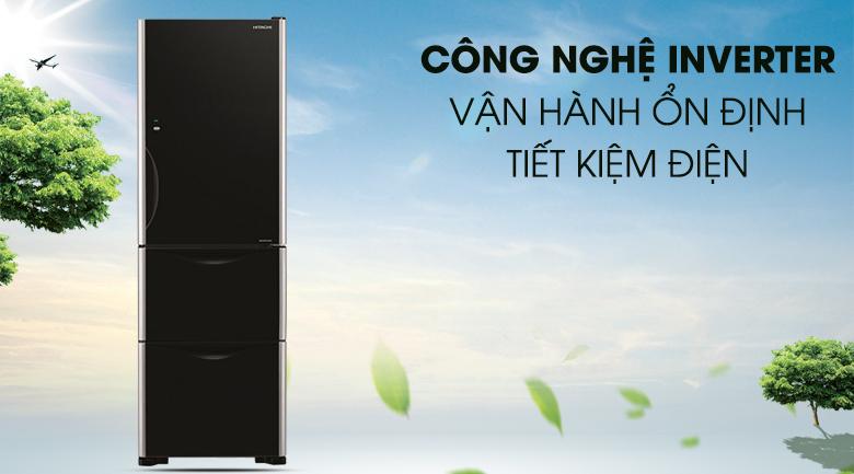 Tích hợp công nghệ inverter hiện đại - Tủ lạnh Hitachi inverter 375 lít R-SG38FPG