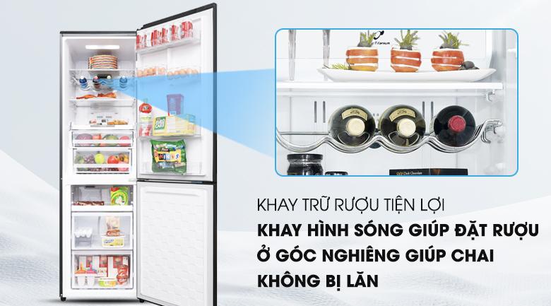Tích hợp thêm khay chứa rượu tiện dụng - Tủ lạnh Hitachi Inverter 330 lít BG410PGV6X (GBK)