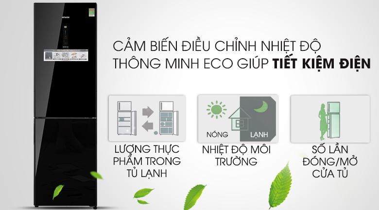 Tối ưu hóa năng lượng với cảm biến Eco - Tủ lạnh Hitachi Inverter 330 lít BG410PGV6X (GBK)