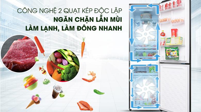 Công nghệ làm lạnh kép - Tủ lạnh Hitachi Inverter 330 lít BG410PGV6X (GBK)