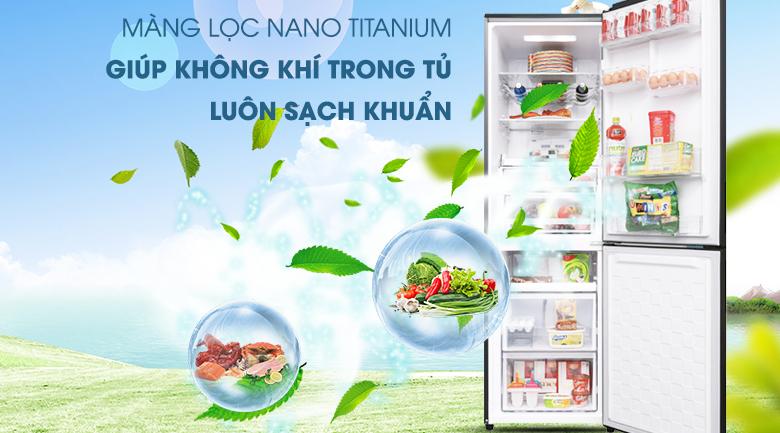 Kháng khuẩn khử mùi với Công nghệ Nano Titanium - Tủ lạnh Hitachi Inverter 330 lít BG410PGV6X (GBK)