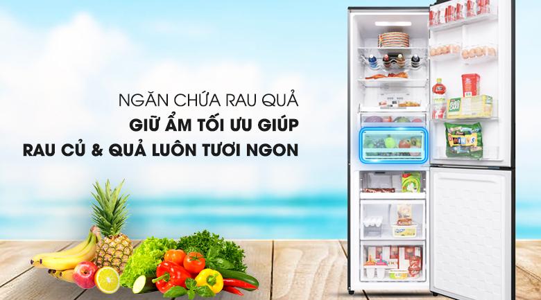 Ngăn bảo quản rau củ hiện đại - Tủ lạnh Hitachi Inverter 330 lít BG410PGV6X (GBK)