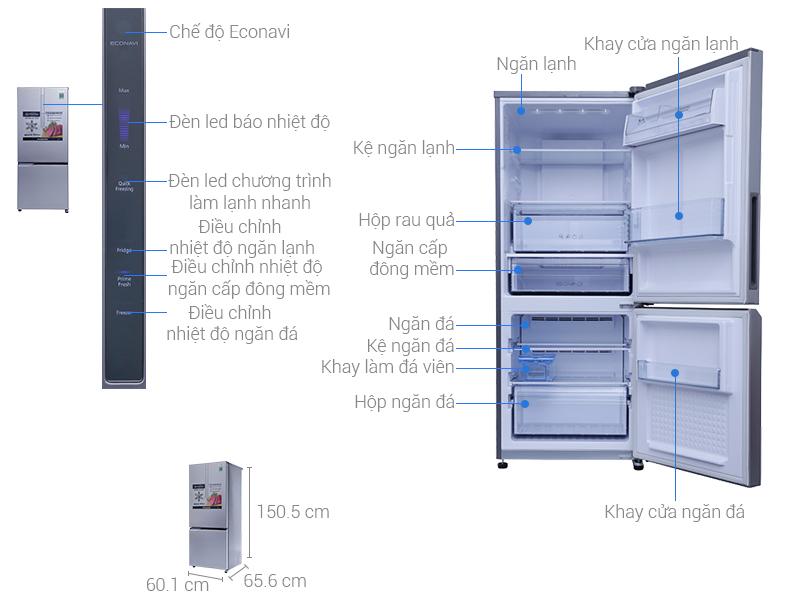 Thông số kỹ thuật Tủ lạnh Panasonic 255 lít NR-BV289XSVN