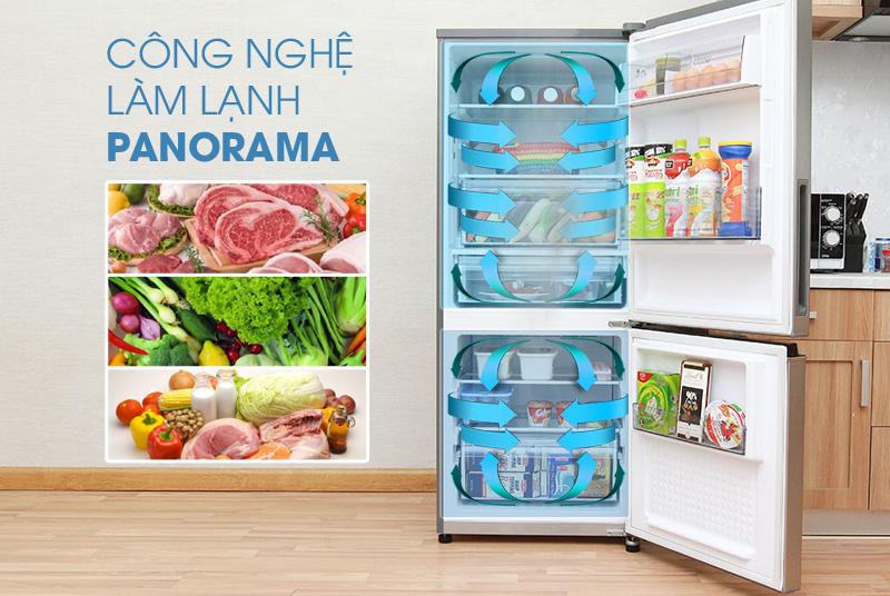 Công nghệ Panorama độc quyền Panasonic, làm lạnh nhanh và đồng đều