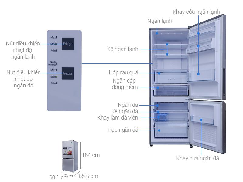 Thông số kỹ thuật Tủ lạnh Panasonic 290 lít NR-BV329QSVN