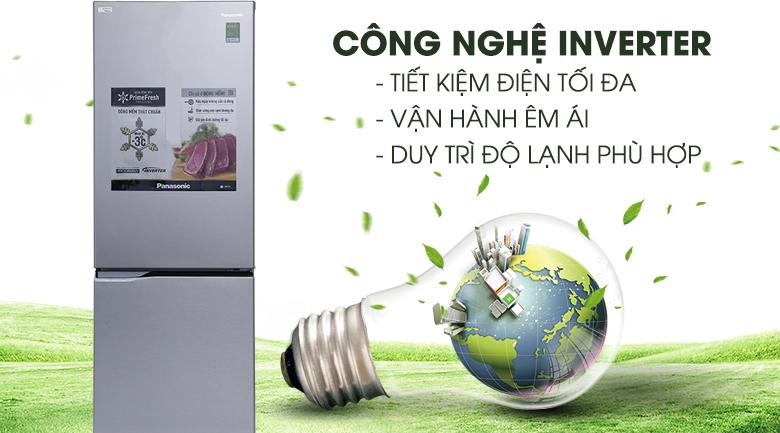 Công nghệ Inverter kết hợp với cảm biến Econavi siêu tiết kiệm điện - Tủ lạnh Panasonic Inverter 290 lít NR-BV329QSVN