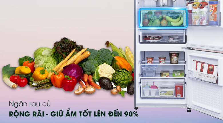 Ngăn rau củ - Tủ lạnh Panasonic Inverter 290 lít NR-BV329QSVN