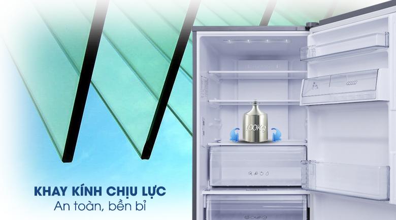 Khay kính chịu lực - Tủ lạnh Panasonic Inverter 290 lít NR-BV329QSVN
