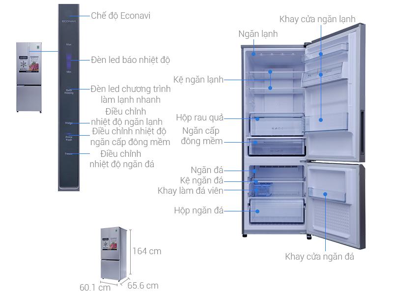 Thông số kỹ thuật Tủ lạnh Panasonic 290 lít NR-BV329XSVN