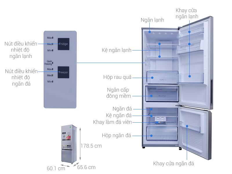 Thông số kỹ thuật Tủ lạnh Panasonic 322 lít NR-BV369QSVN