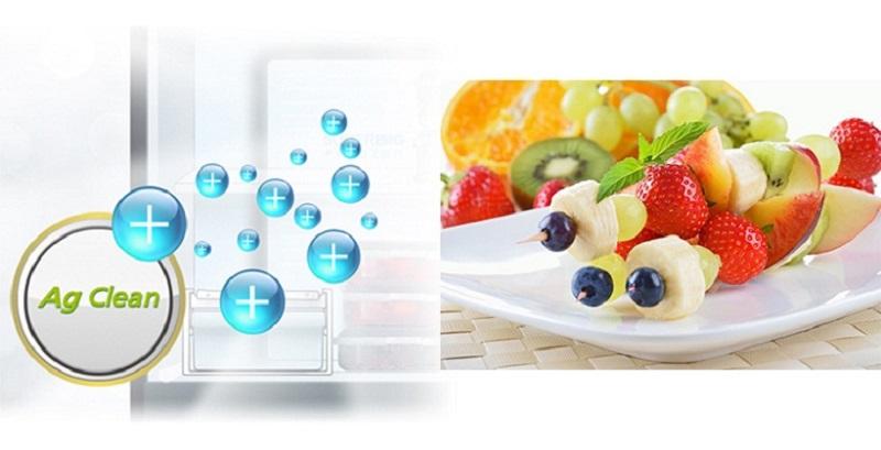 Loại bỏ lên đến 99,9% vi khuẩn gây mùi bên trong tủ lạnh