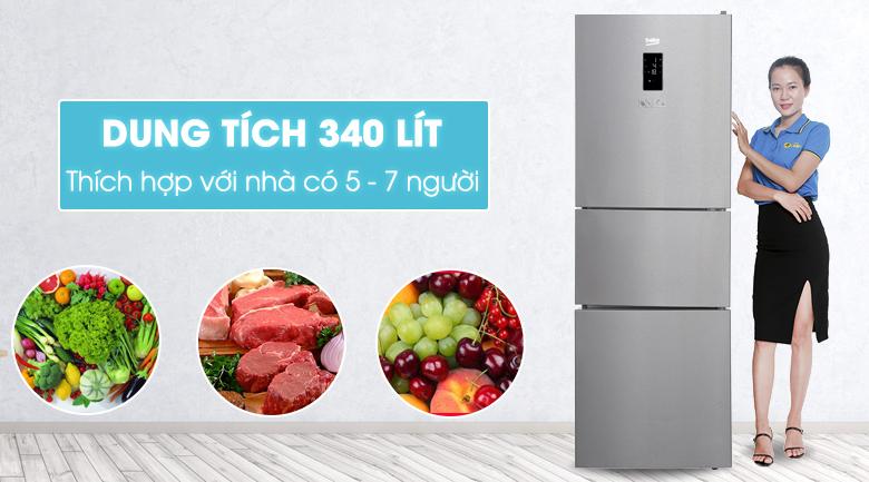 Tủ lạnh Beko 340 lít RTNT340E50VZX