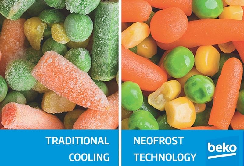 Công nghệ NeoFrost Technology làm lạnh đồng đều, hiệu quả