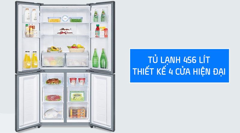 Tủ lạnh Aqua 456 lít AQR-IG525AM GG