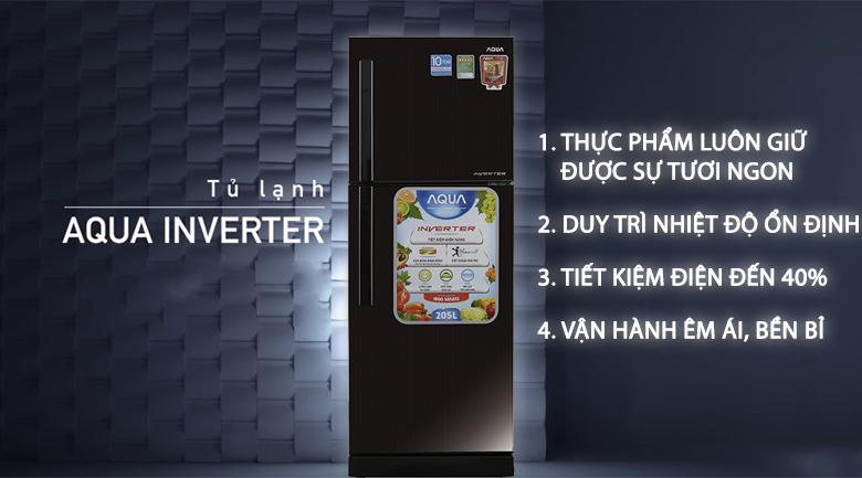 Inverter - Tủ lạnh Aqua 205 lít AQR-I209DN DC