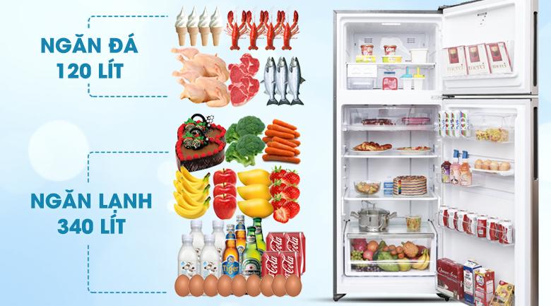 Thiết kế dung tích lớn - Tủ lạnh Electrolux Inverter 426 lít ETB4602GA