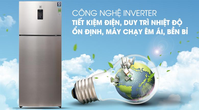 Tích hợp công nghệ Inverter hiện đại - Tủ lạnh Electrolux Inverter 426 lít ETB4602GA