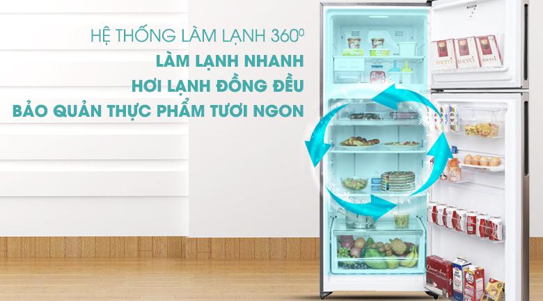 Hệ thống làm lạnh 360 độ đồng đều hơn - Tủ lạnh Electrolux Inverter 426 lít ETB4602GA