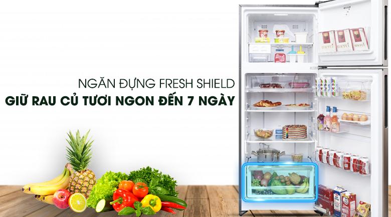 Ngăn bảo quản rau củ FreshShield - Tủ lạnh Electrolux Inverter 426 lít ETB4602GA