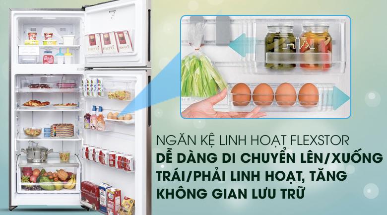 Hệ thống khay kệ FlexStor linh hoạt - Tủ lạnh Electrolux Inverter 426 lít ETB4602GA
