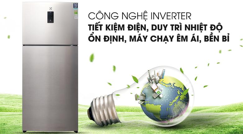 Công nghệ Inverter tiết kiệm điện năng - Tủ lạnh Electrolux Inverter 531 lít ETB5702GA