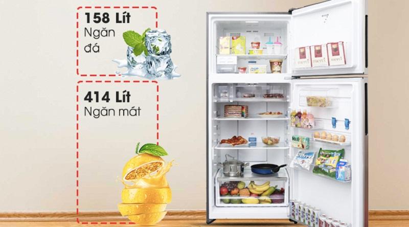 Dung tích lên đến 531 lít - Tủ lạnh Electrolux Inverter 531 lít ETB5702GA