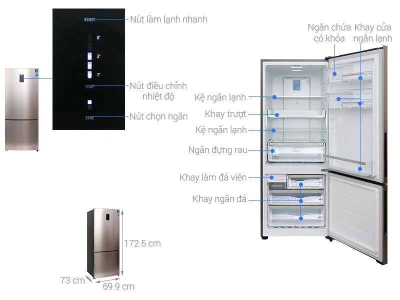 Thông số kỹ thuật Tủ lạnh Electrolux Inverter 418 lít EBE4502GA